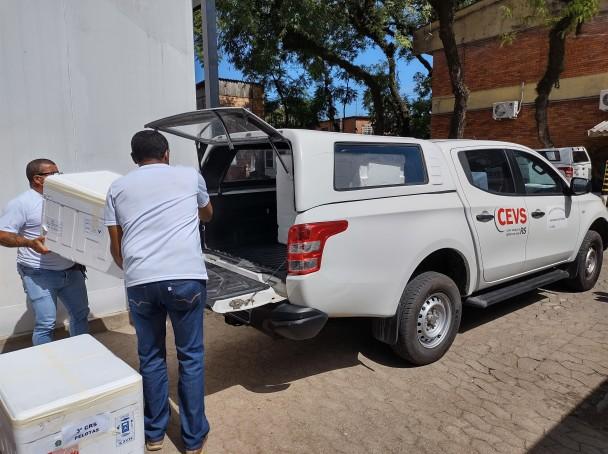 Envio por transporte rodoviário partiu de Porto Alegre nesta manhã.