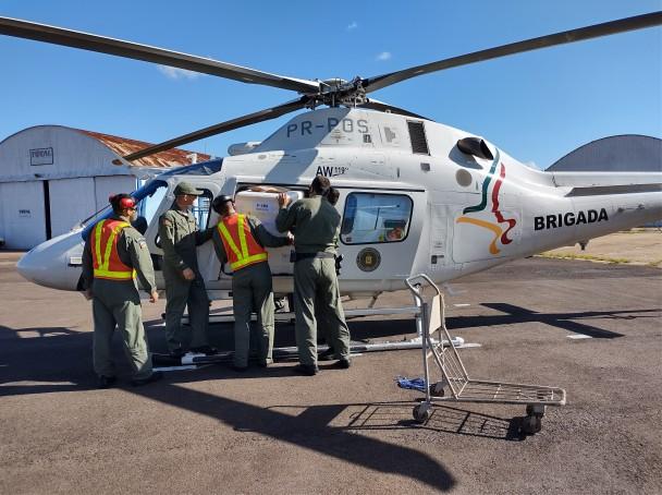 Helicóptero foi uma das aeronaves utilizadas em parceria com a Secretaria de Segurança Pública.
