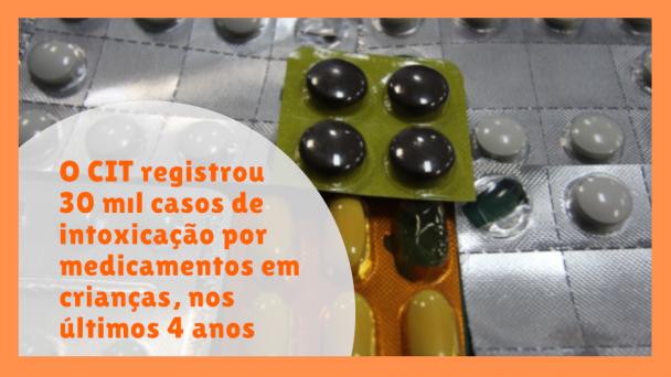 O CIT registrou 30 mil casos de intoxicação por medicamentos em crianças nos últimos 4 anos.
